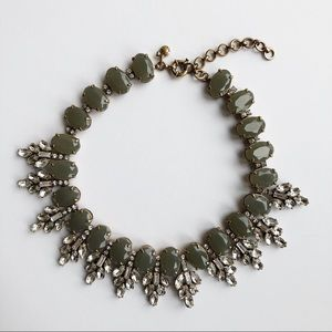 J. Crew Crystal Leaves Statement Necklace